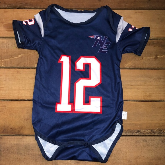 NEW Patriots Tom Brady Jersey Style Onesies